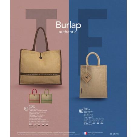 2baf130b32e564 Jutowa torba na zakupy 550 gr Kours